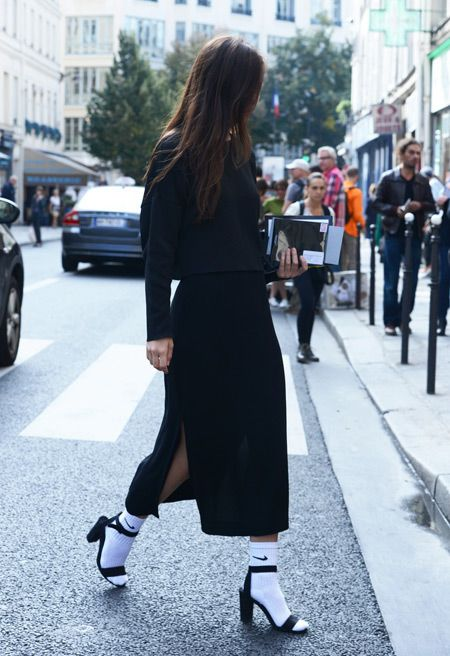 fall-all-black-skirt-set-midi-skirt-socks-with-sandals-via-fashion